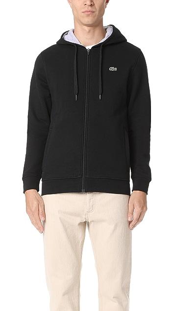 d986bec9d3e556 Lacoste Sport Full Zip Hoodie Fleece Sweatshirt