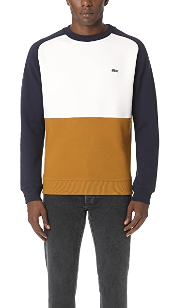 detailed pictures 59e90 02981 Lacoste. Brushed Pique Fleece Colorblock Sweatshirt