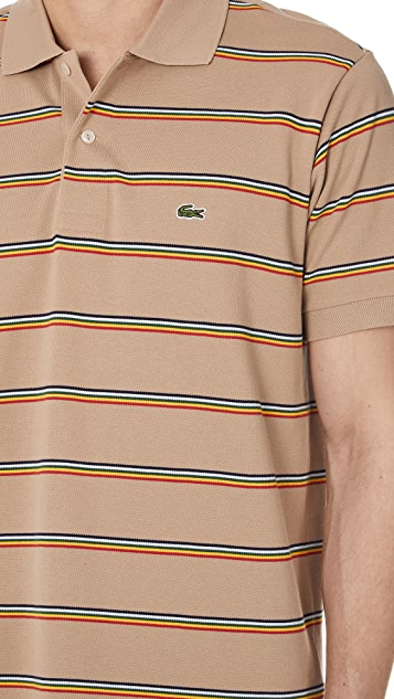 Lacoste Striped Classic Polo Shirt