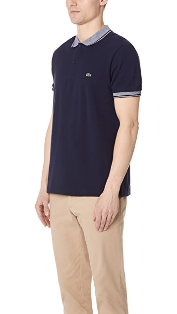 Lacoste Stripe Collar Polo Shirt