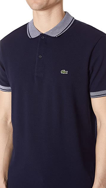 Lacoste Stripe Collar Polo Shirt