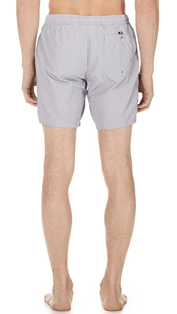 Lacoste Striped Swim Shorts