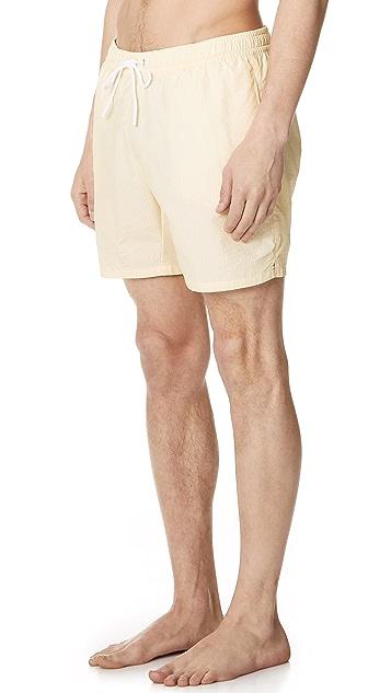 Lacoste Striped Swim Shorts