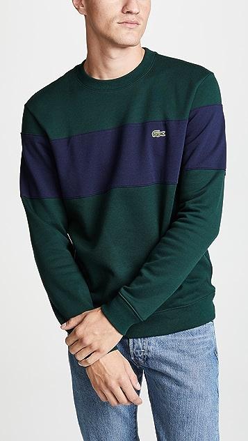 2c02622594e Lacoste Colorblock Crew Sweatshirt