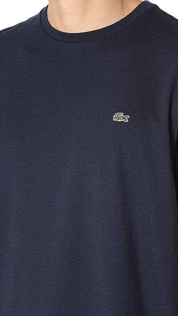 Lacoste Short Sleeve Pima Jersey Crew Neck Tee