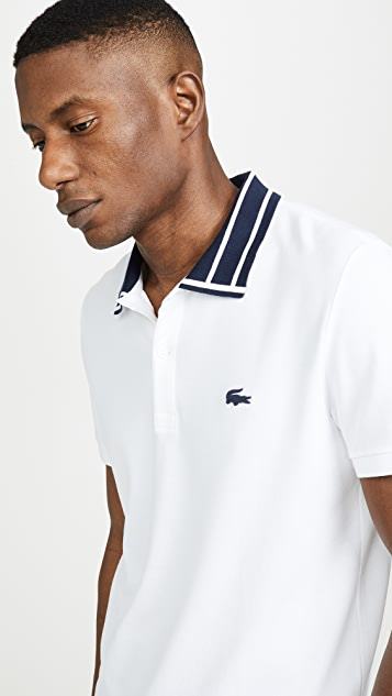 Lacoste Tipped Collar Polo