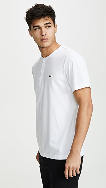 Lacoste Short Sleeve Henley Shirt
