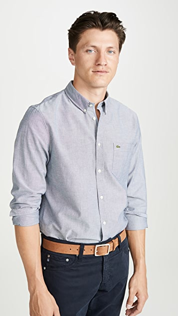 Lacoste Button Down Oxford Shirt