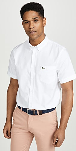 Lacoste - Short Sleeve Button Down Oxford Shirt