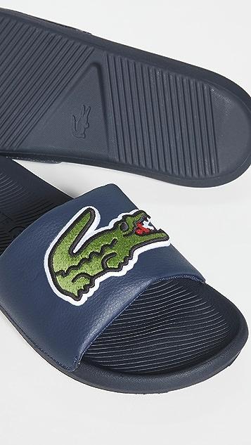 Lacoste Croco 120 Pool Slides