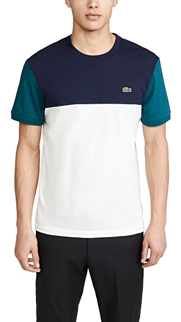 Lacoste Short Sleeve Colorblock T-Shirt