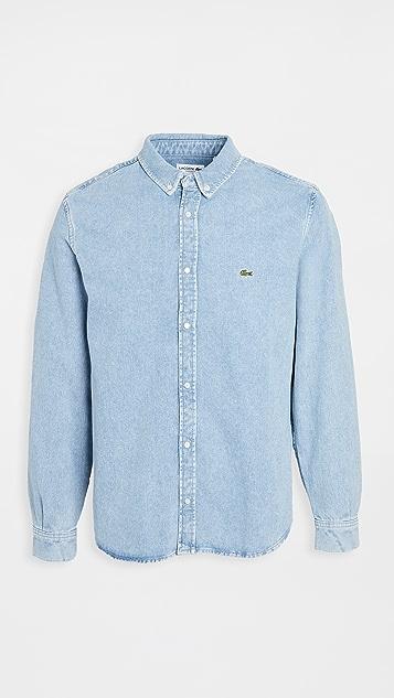 Lacoste Long Sleeve Denim Shirt