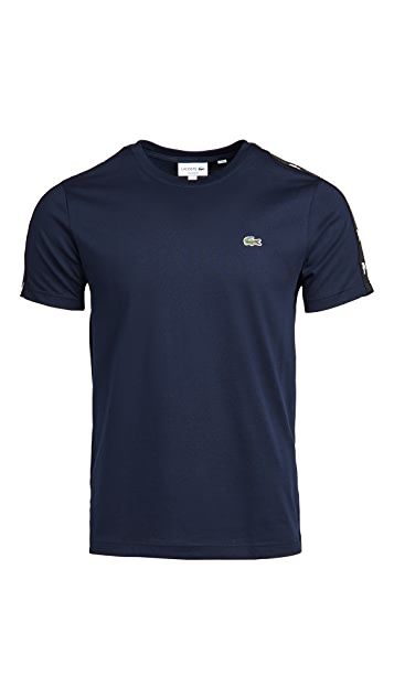 Lacoste Colorblock T-Shirt with Tape On Shoulder