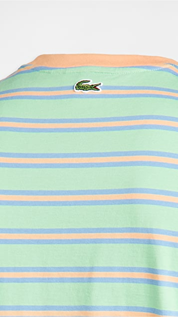 Lacoste Colorblocked Striped Tee