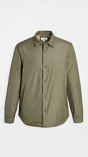Lacoste Taffeta Checked and Solid Overshirt