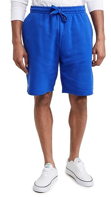 Lacoste Solid Fleece Shorts