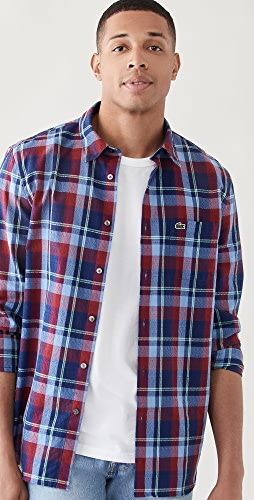 Lacoste - Checked Tile Print Button Down