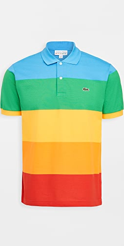 Lacoste - Colorblocked Rainbow Polaroid Polo