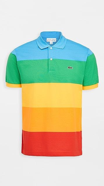 Lacoste Colorblocked Rainbow Polaroid Polo