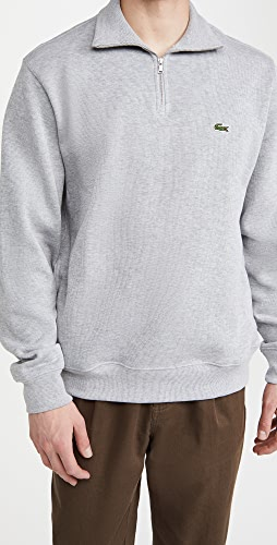 Lacoste - Zippered Collar Cotton Sweatshirt