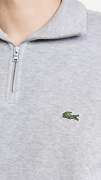 Lacoste Zippered Collar Cotton Sweatshirt