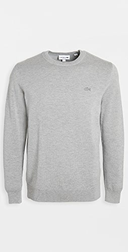 Lacoste - Crew Neck Cotton and Cashmere Sweatshirt