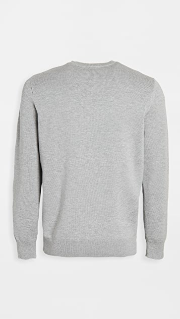 Lacoste Crew Neck Cotton and Cashmere Sweatshirt