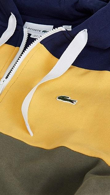 Lacoste Colorblock Zip Hoodie