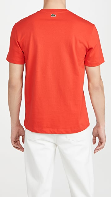 Lacoste Oversized Lacoste Club Badge Cotton Tee