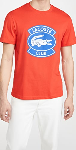 Lacoste - Oversized Lacoste Club Badge Cotton Tee