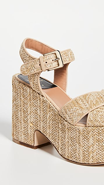 Laurence Dacade Helissa Raffia Sandals