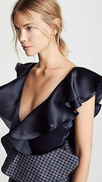 Leal Daccarett Victoria Bodysuit with Ruffle Details