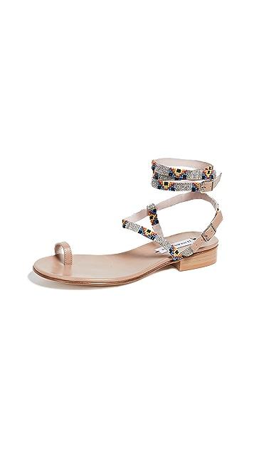 Leandra Medine Beaded Sandals