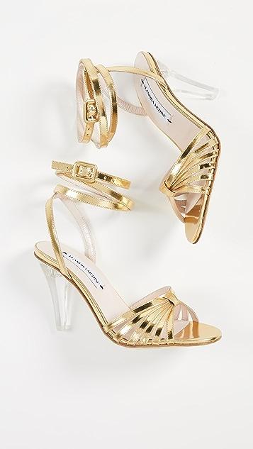Leandra Medine Решетчатые сандалии на каблуках