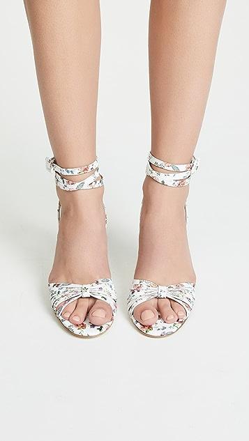 Leandra Medine Caged Heeled Sandals