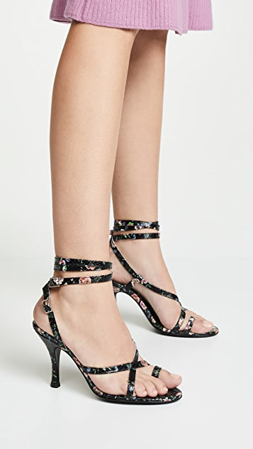 Leandra Medine High Strap Sandals
