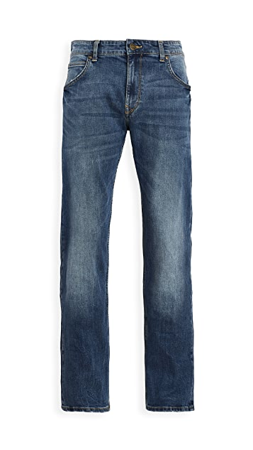 Lee Tapered Leg Jeans in Nash Wash