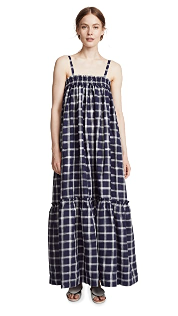 Lee Mathews Nellie Check Apron Dress