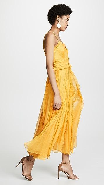 Lee Mathews Платье-комбинация Lilla из жатого шелка