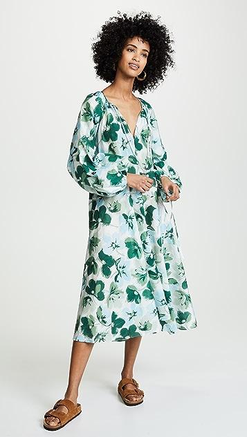 Lee Mathews Платье Bridget с объемными рукавами