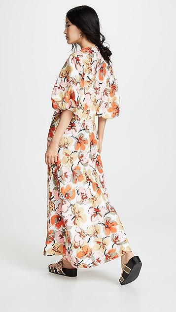 Lee Mathews Платье Margot с объемными рукавами