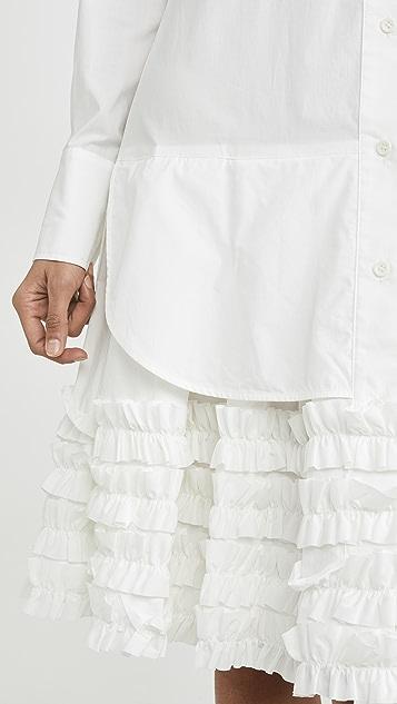 Lee Mathews Платье Elsie с оборчатым подолом