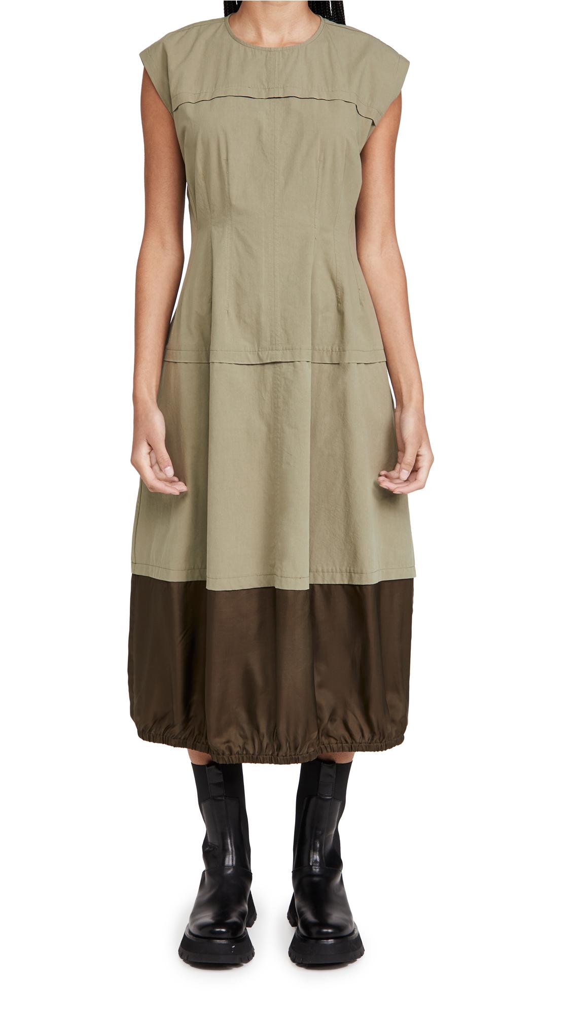 Lee Mathews Birder Spliced Parachute Dress