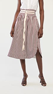 Lee Mathews Grace 条纹半身裙