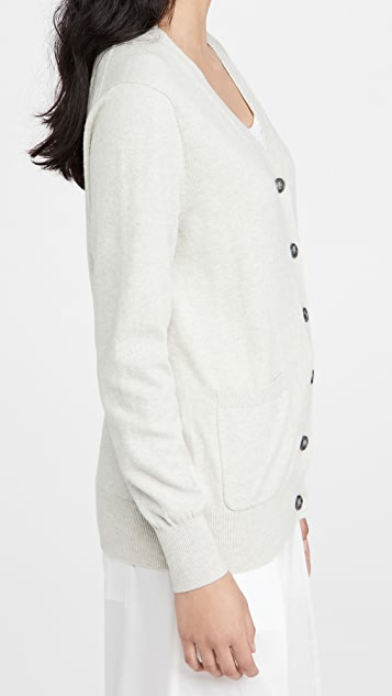 Lee Mathews 棉质开司米羊绒系扣衫