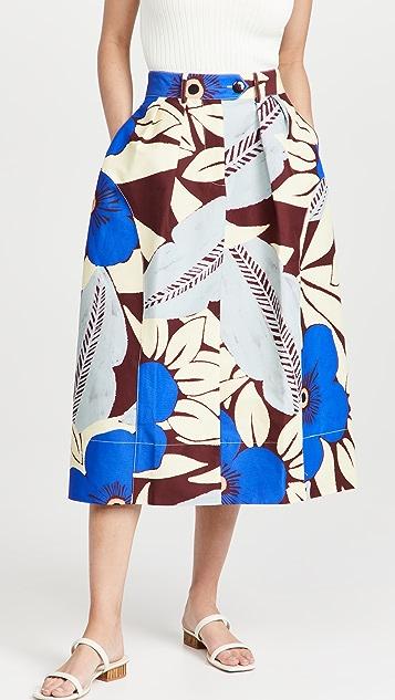 Lee Mathews Blue Aster Cocoon 半身裙