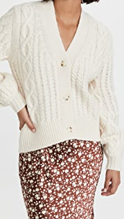 Lee Mathews Stanford Cable Knit Cardigan