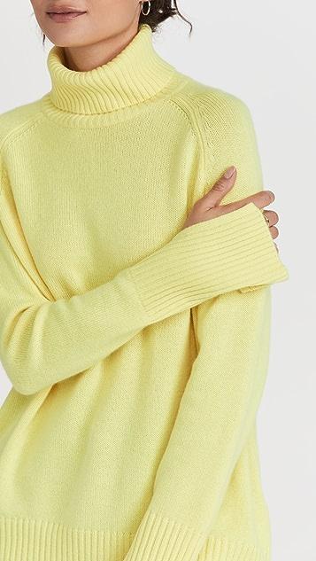 Lee Mathews Cashmere Turtleneck Knit Sweater