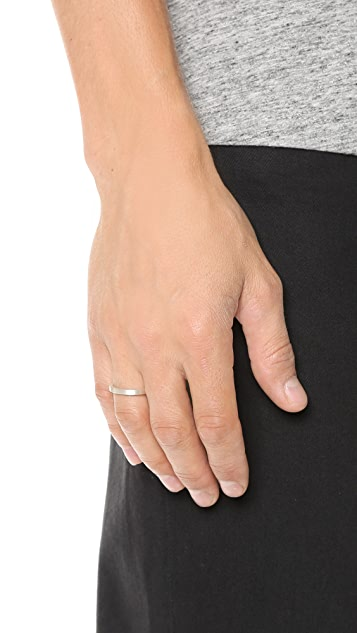 Le Gramme Le 3 Grammes Brushed Silver Ring