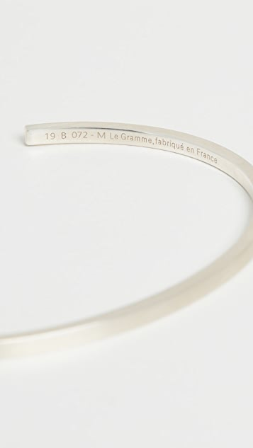 Le Gramme Le 7 Grammes Brushed Silver Bracelet